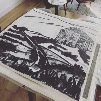 India ink to bring out the image, taking particular note of where there is shading