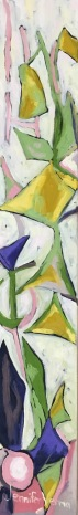 Whimsical flowers painted with Canadian landscape painter, Gordon Harrison, and based on his Spring Affair 2016 collection http://gordonharrisongallery.com/