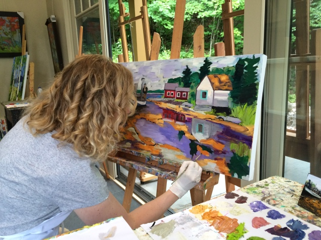 Painting a Cape Breton Scene (summer 2016)