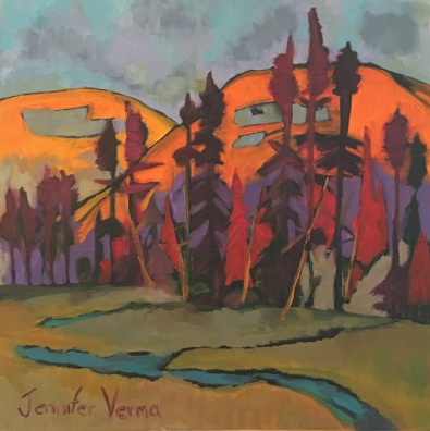 Gatineau Park, Quebec. Painted with Canadian landscape painter, Gordon Harrison, and based on his Fall Rhapsody 2015 collection http://gordonharrisongallery.com/