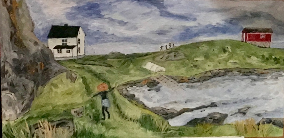 Change Islands, NL, painted spring 2018, based on a Tourism NL advertisement photo