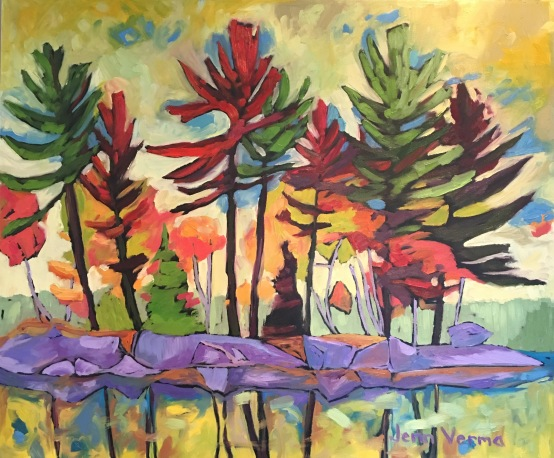 Fall Rhapsody, painted with Canadian landscape painter, Gordon Harrison, and based on his Fall Rhapsody 2017 collection http://gordonharrisongallery.com/