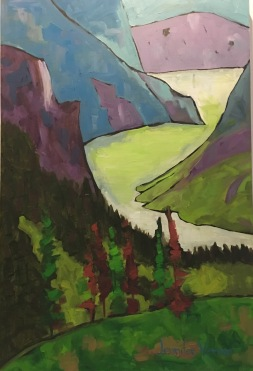Gros Morne, Newfoundland, painted fall 2015 (under the guidance of Canadian landscape painter, Gordon Harrison)