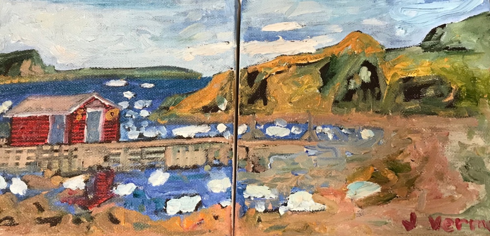 Twillingate, NL, painted spring 2018 based on a photo from a desktop calendar