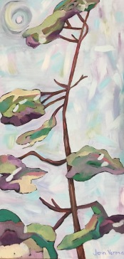 Whimsical trees, painted in spring 2016 (Jenn Verma)