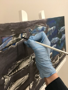 Painting an under the sea scene