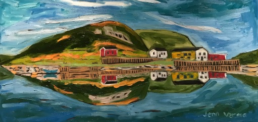 St. Lunaire-Griquet, based on my photo. Painted fall 2018. Oil on canvas. Painted under the guidance of Gordon Harrison.