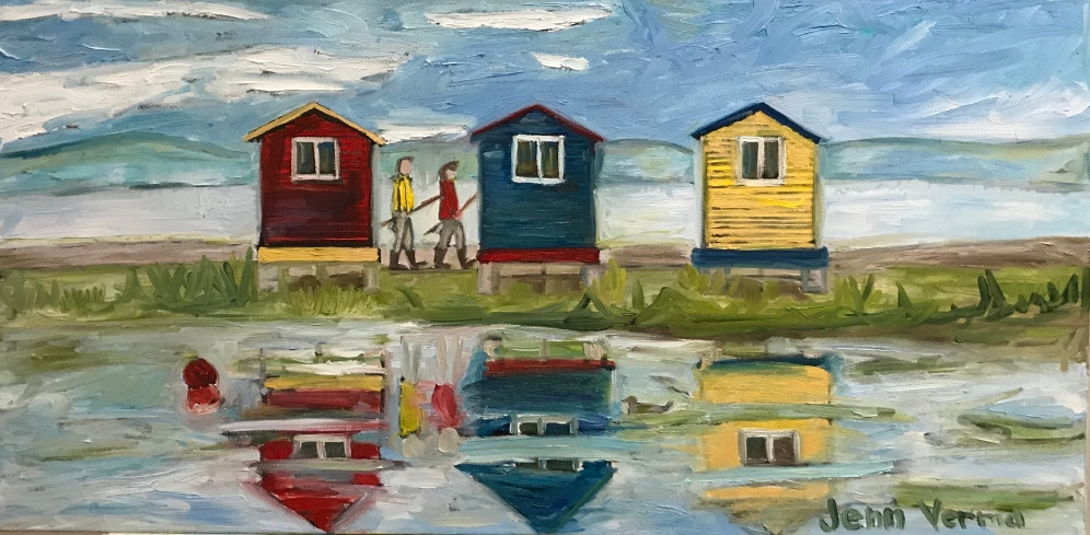 New Perlican, NL, painted in spring 2018 based on a photo by tourism NL