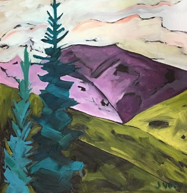 Denali Mountain, Alaska painted in fall 2016 (Jenn Verma)