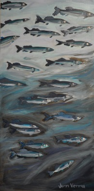 Capelin Roll, NL acrylic on canvas