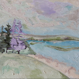 Pinchgut Lake, NL painted summer 2018 (Jenn Verma)